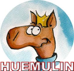 logo: huemulin comics