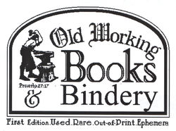 OLD WORKING BOOKS & Bindery (Est. 1994) logo
