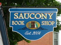 Saucony Book Shop bookstore logo
