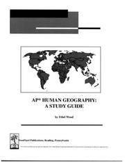 AP Study materials - AP Human Geography