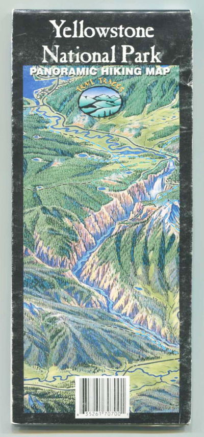 Yellowstone National Park Panoramic Hiking Map, Trail Tracks [James Niehues, illus]