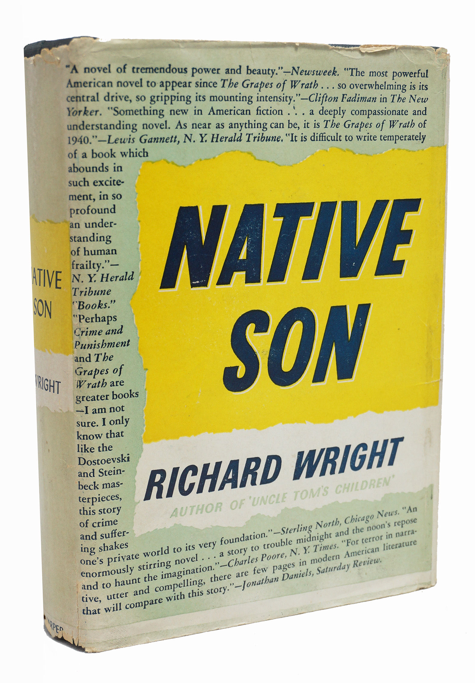the motivation of fear in the novel native son by richard wright After bigger commits his crime, he begins to lose his fear of the white society that had, until then, always controlled him and held him down by murdering a white woman, bigger feels that he has finally struck back at the white world that he has feared and hated the author, richard wright, gives us a glimpse into bigger's.