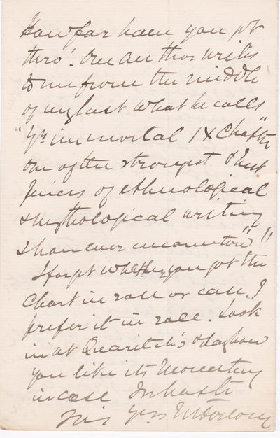 """THREE AUTOGRAPH LETTERS SIGNED BY JAMES FORLONG AT THE TIME OF PUBLICATION OF HIS MAJOR WORK """"RIVERS OF LIFE""""., Forlong, James George Roche. (1824-1904), Indian army general. Author of the major work of comparative religion """"Rivers of Life."""""""