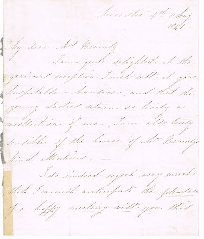 LETTER SIGNED by MARY LINWOOD, Linwood, Mary (1755-1845). Needlework artist, novelist & composer