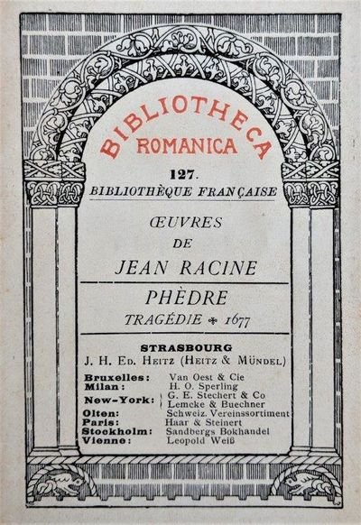 Image for Phèdre, Tragedie 1677.
