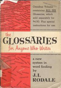 The Glossaries for Anyone Who Writes