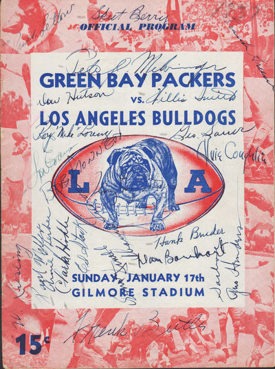 Image for Green Bay Packers vs. Los Angeles Bulldogs. Official Football Program.  January 17, 1937.  Gilmore Field. Sunday, January 17th. Gilmore Stadium.