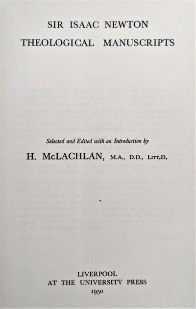 Image for Theological Manuscripts. Selected and edited with an introduction by H. McLachlan.