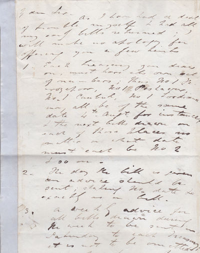 AUTOGRAPH LETTER TO SIR HENRY RAWLINSON SIGNED BY BRITISH INDIA ARMY OFFICER SIR HENRY MONTGOMERY LAWRENCE., Lawrence, Sir Henry Montgomery. (1806-1857). British soldier and statesman in India who died in the Siege of Lucknow during the Indian Rebellion.