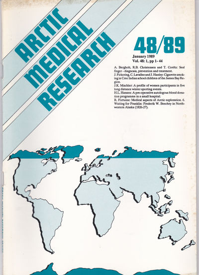ARCTIC MEDICAL  RESEARCH. Vol. 48, No. 1, January 1989., Hansen, J. P. Hart; Harvald, Bent; editors.