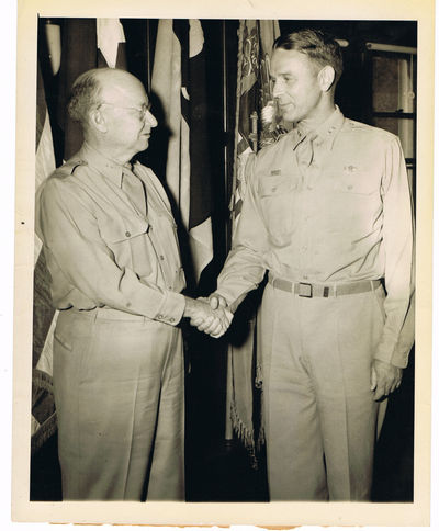 A VINTAGE 1945 NEWS PHOTOGRAPH OF MAJOR GENERAL MAXWELL TAYLOR TAKING OVER AS THE NEW SUPERINTENDENT OF THE WEST POINT MILITARY ACADEMY, Taylor, Maxwell