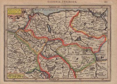 Image for [Map of] Saxonia Inferior et Meklenborg
