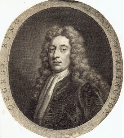 """GEORGE BYNG / LORD TORRINGTON"": A VINTAGE 18TH CENTURY MEZZOTINT PORTRAIT OF GEORGE BYNG, 1ST VISCOUNT TORRINGTON, (Byng, George, Lord Torrington)"