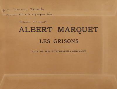 Image for Les Grisons; Suite de sept lithograhies originales. Signed by Marcelle  Marquet.