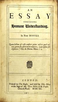 an essay concerning human understanding peter quidditch