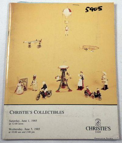 Christie's Collectibles: June 1 and June 5, 1985 - Sale 5905, Christie's East [Auction Catalogue]