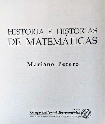Image for Historia e Historias de Matemáticas.