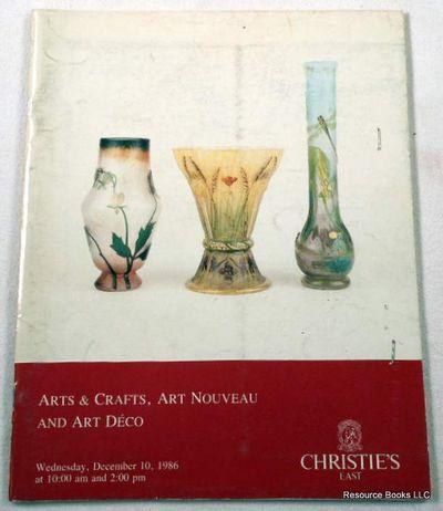 Christie's East: Arts & Crafts, Art Nouveau and Art Deco.  New York: December 10, 1986, Sale 6253, Christie's East [Auction Catalogue]