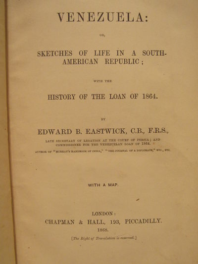 Image for Venezuela: Sketches of Life in a South-American Republic; with the History  of the Loan of 1864.