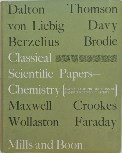 Image for Classical Scientific Papers: Chemistry.