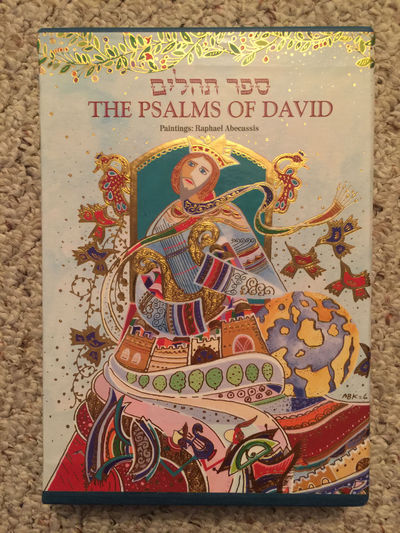 The Psalms Of David With Slipcase and Illuminated by Raphael Abecassis, Rabbi Jonathan Chipman Edited Prof. Shalom Sabar Paintings Raphael Abecassis