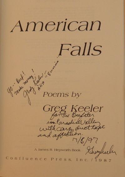 American Falls, Keeler, Greg