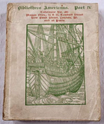 Bibliotheca Americana et Philippina Part IV. Catalog No. 465