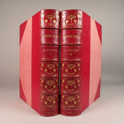 Image for Speeches on Questions of Public Policy (2 Volumes - Complete) (Fine binding by H. Wood)