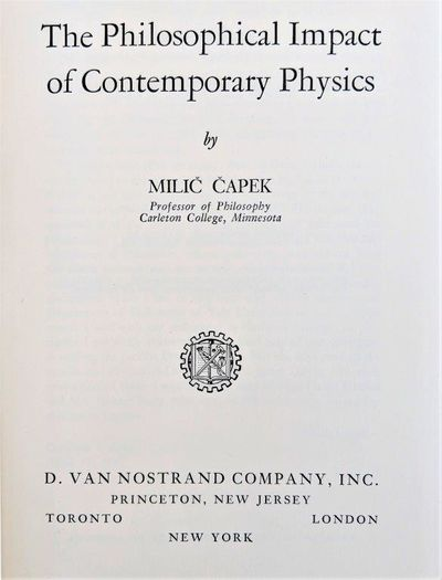 Image for Philosophical Impact of Contemporary Physics.