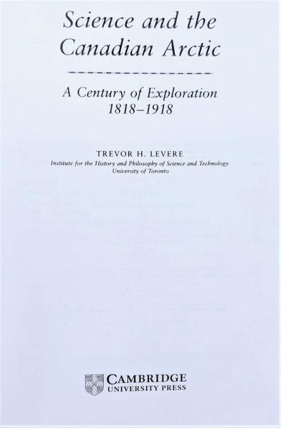 Image for Science and the Canadian Arctic; a Century of Exploration 1818-1918.
