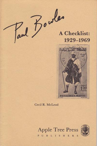 PAUL BOWLES: A CHECKLIST 1929-1969., (Bowles, Paul). McLeod, Cecil R.