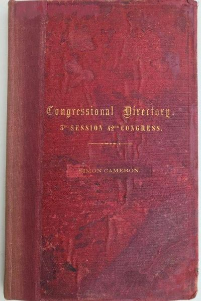 Congressional directory, compiled for the use of Congress., POORE, Benjamin Perley (1820-1887).