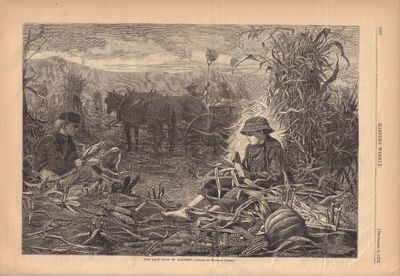 Image for The Last Days Of Harvest- [Drawn By Winslow Homer] Harper's Weekly- December 6, 1873
