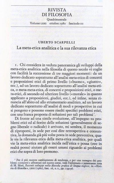 """Image for """"Ottica, astronomia, relativita: Boscovich a Roma 1738-1748,"""" [in]: Rivista Di Filosofia, 18 Ottobre 1980."""