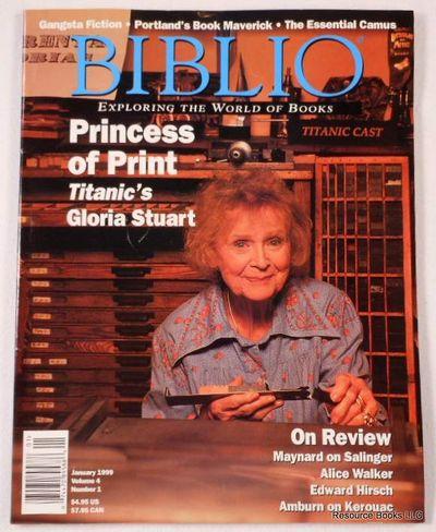 Biblio Magazine - January 1999.  Volume 4, Number 1, Biblio Magazine