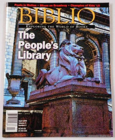 Biblio Magazine - April 1999.  Volume 4, Number 4, Biblio Magazine