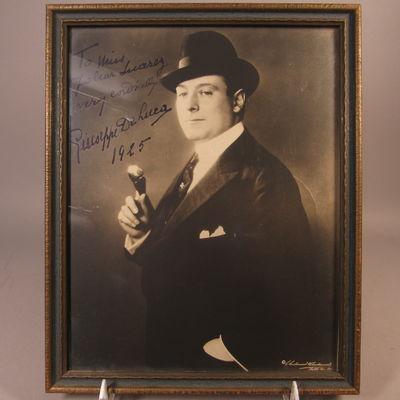 Image for Autographed photograph of Giuseppe De Luca
