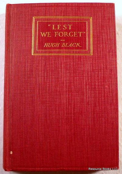 Lest We Forget, Black, Hugh