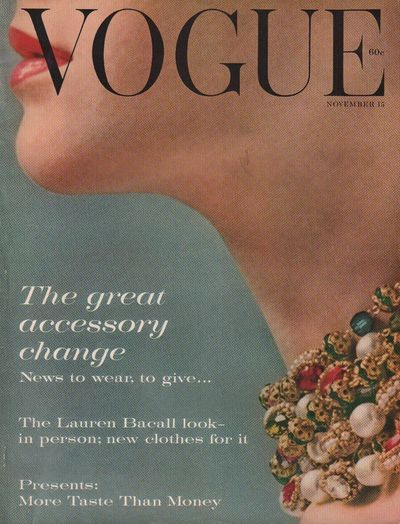 Image for Vogue Magazine (incorporating Vanity Fair). November 15, 1959. Vol. 134.  No. 9.