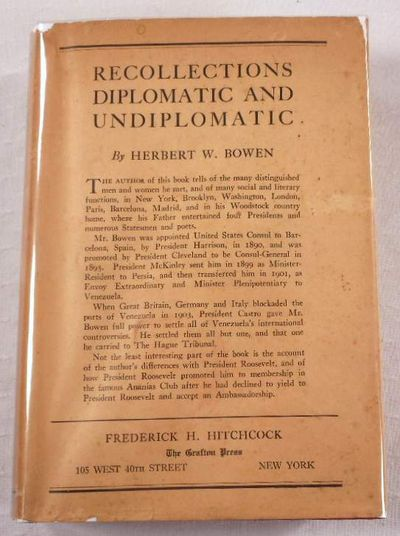 Recollections Diplomatic and Undiplomatic, Bowen, Herbert W.
