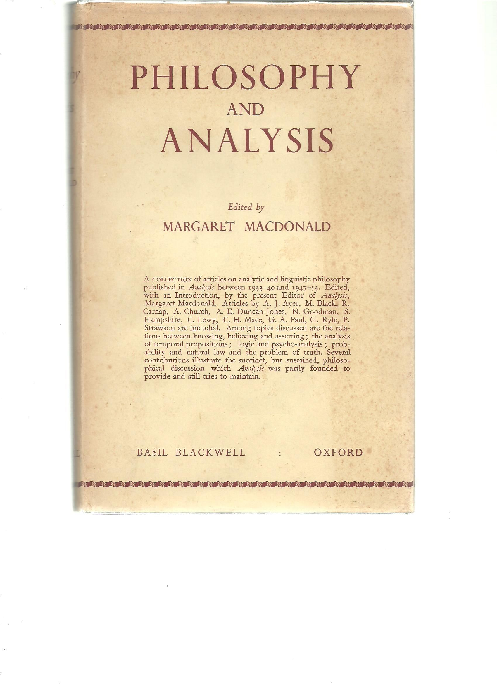 an analysis of philosophy Analysis, review, and chapter summaries of elements of moral philosophy by james rachels.