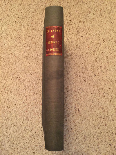 On The Calendar Of Oengus Leabar Brecc  Original 1875 Folio Hardcover, Whitley Stokes