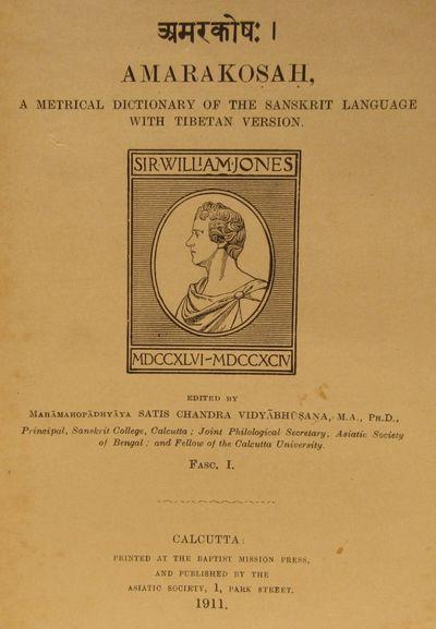 Image for Amarakosah, a metrical dictionary of the Sanskrit language with Tibetan version. Fascicles I & II.
