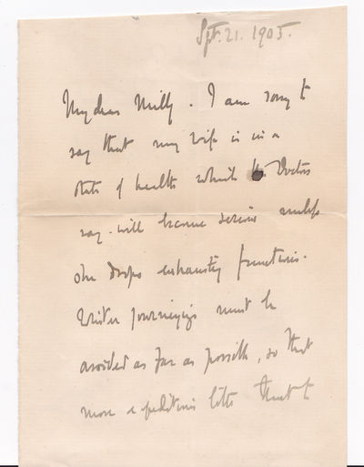 AUTOGRAPH LETTER SIGNED BY THE 4TH GOVERNOR GENERAL OF CANADA JOHN CAMPBELL, 9TH DUKE OF ARGYLL., Campbell, John, 9th Duke of Argyll [Marquess of Lorne]. (1845-1914). The fourth Governor General of Canada.