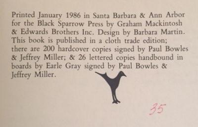 Paul Bowles: A Descriptive Bibliography, Miller, Jeffrey