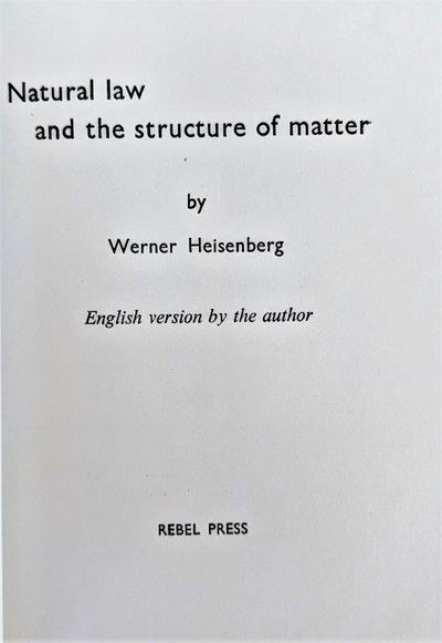 Image for Natural Law and the Structure of Matter. English version by the author.