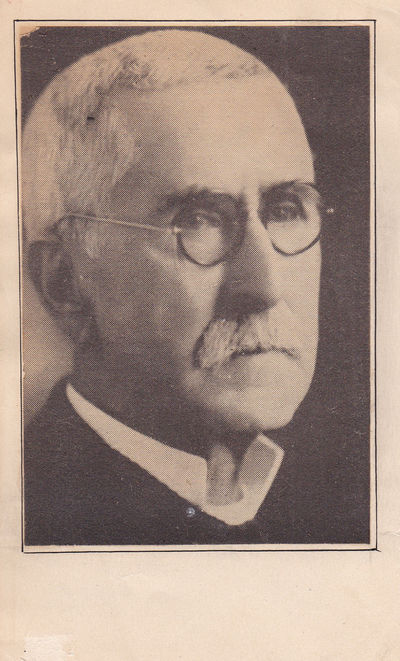 """NEWSPAPER PORTRAIT INSCRIBED TO FUTURE NEW YORK POLITICIAN SEYMOUR HALPERN ON THE VERSO AND SIGNED BY WILLIAM HOPE """"COIN"""" HARVEY, A LEADING ADVOCATE OF COINAGE OF SILVER INTO MONEY., Harvey, William Hope. (1851-1936). Known as """"Coin"""" Harvey, he was a leading advocate of the use of silver as legal tender."""