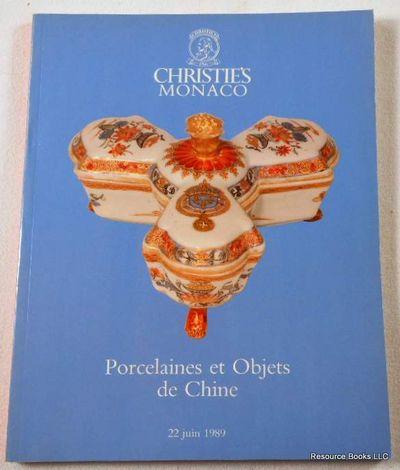 Christies: Porcelaines et Objets De Chine.  Monaco: 22 Juin 1989 [June 22, 1989], Christie's  [Auction Catalogue]