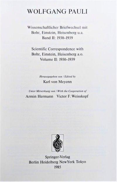 Image for Scientific Correspondence with Bohr, Einstein, Heisenberg a.o. Volume II: 1930-1939.