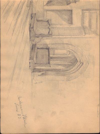 Image for Set of 4 Original Pencil Drawings of Reichenau Island, Germany